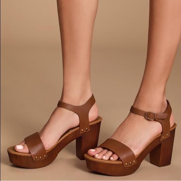 Organo taquigrafía cebra  Steve Madden Shoes | Steve Madden Luna Cognac Sandals | Poshmark